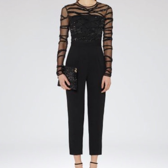 08ec9d3b3f REISS Salie Sequin Embroidered Jumpsuit NWT